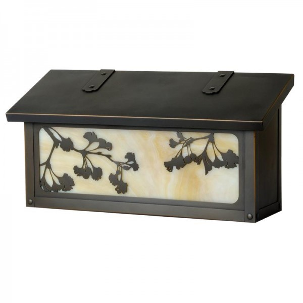 Ginkgo Tree Horizontal Wall Mount Mailbox