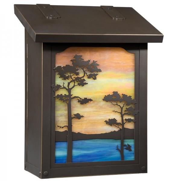 Monterey Pine Vertical Wall Mount Mailbox
