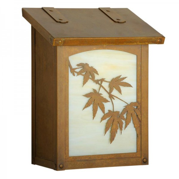 Japanese Maple Vertical Wall Mount Mailbox