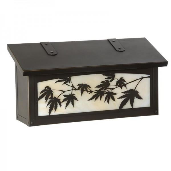 Japanese Maple Horizontal Wall Mount Mailbox