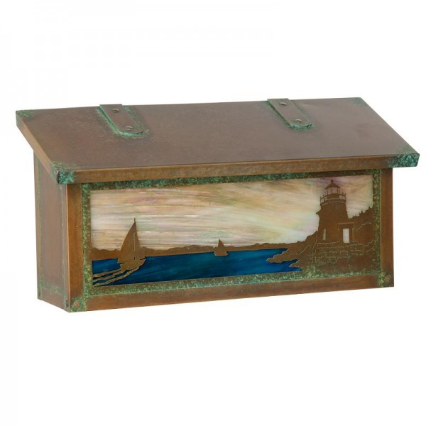 Castle Hill Lighthouse Horizontal Wall Mount Mailbox