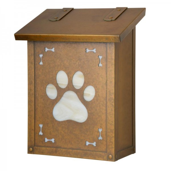 Dog Paw Vertical Wall Mount Mailbox