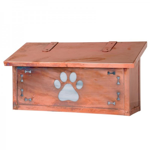 Dog Paw Horizontal Wall Mount Mailbox