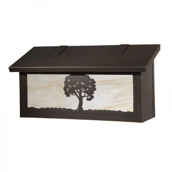 Oak Tree Horizontal Wall Mount Mailbox