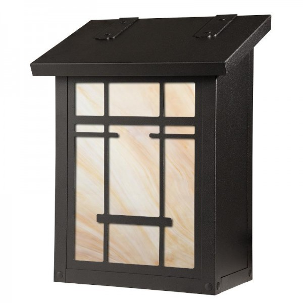 San Marino Art and Crafts Vertical Wall Mount Mailbox