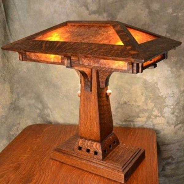 Arts & Crafts Desk Table Lamp