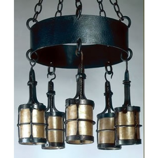 LF199M Manor Chandelier Mica Lamps