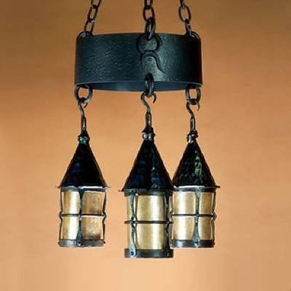 LF202 Cottage Chandelier Mica Lamp