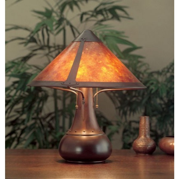 Craftsman Onion Table Lamp 013 Mica Lamp