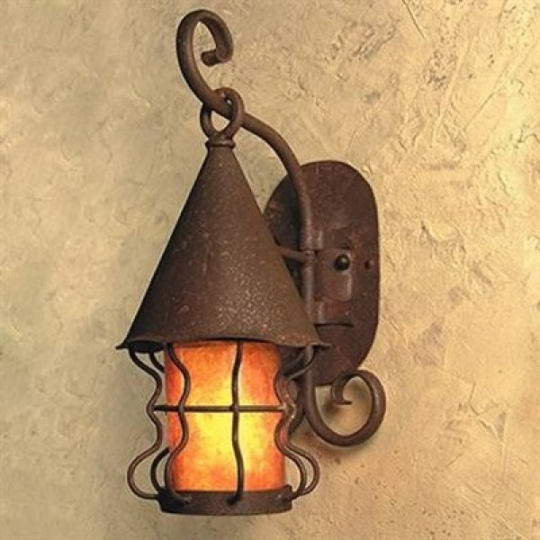SB52 Knights Medium Wall Lantern Mica Lamp