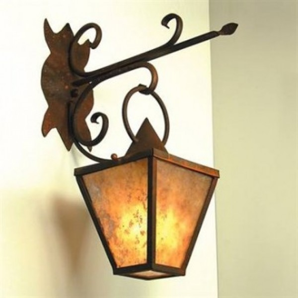 SB55 Village Wall Lantern Mica Lamp
