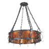 LF524 Large Rancho Chandelier Mica Lamp